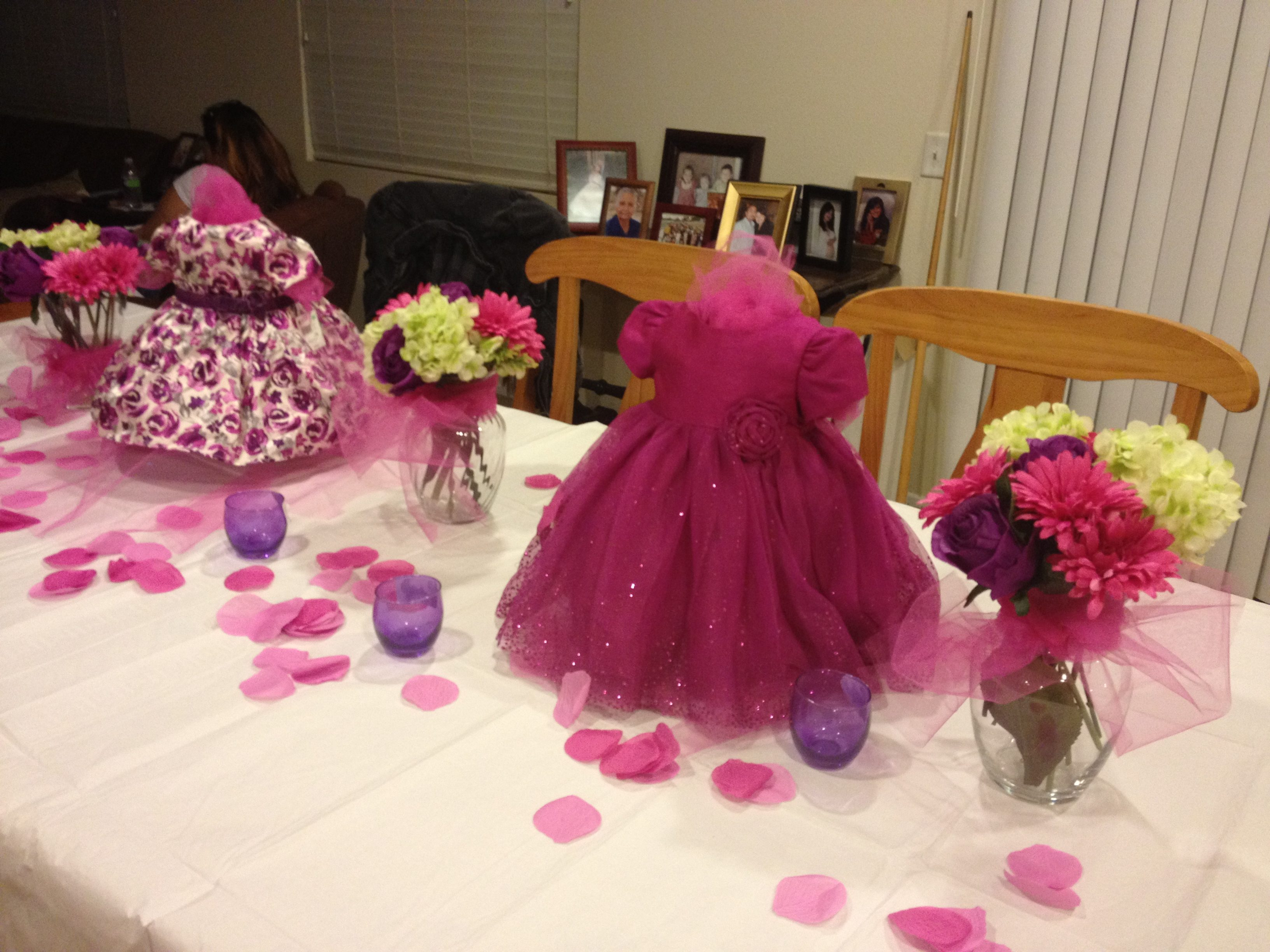 Centerpiece Ideas For Baby Shower Tables Centerpieces Pinks And Purples Pinterest